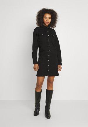 PCPERRY  DRESS - Denim dress - black denim