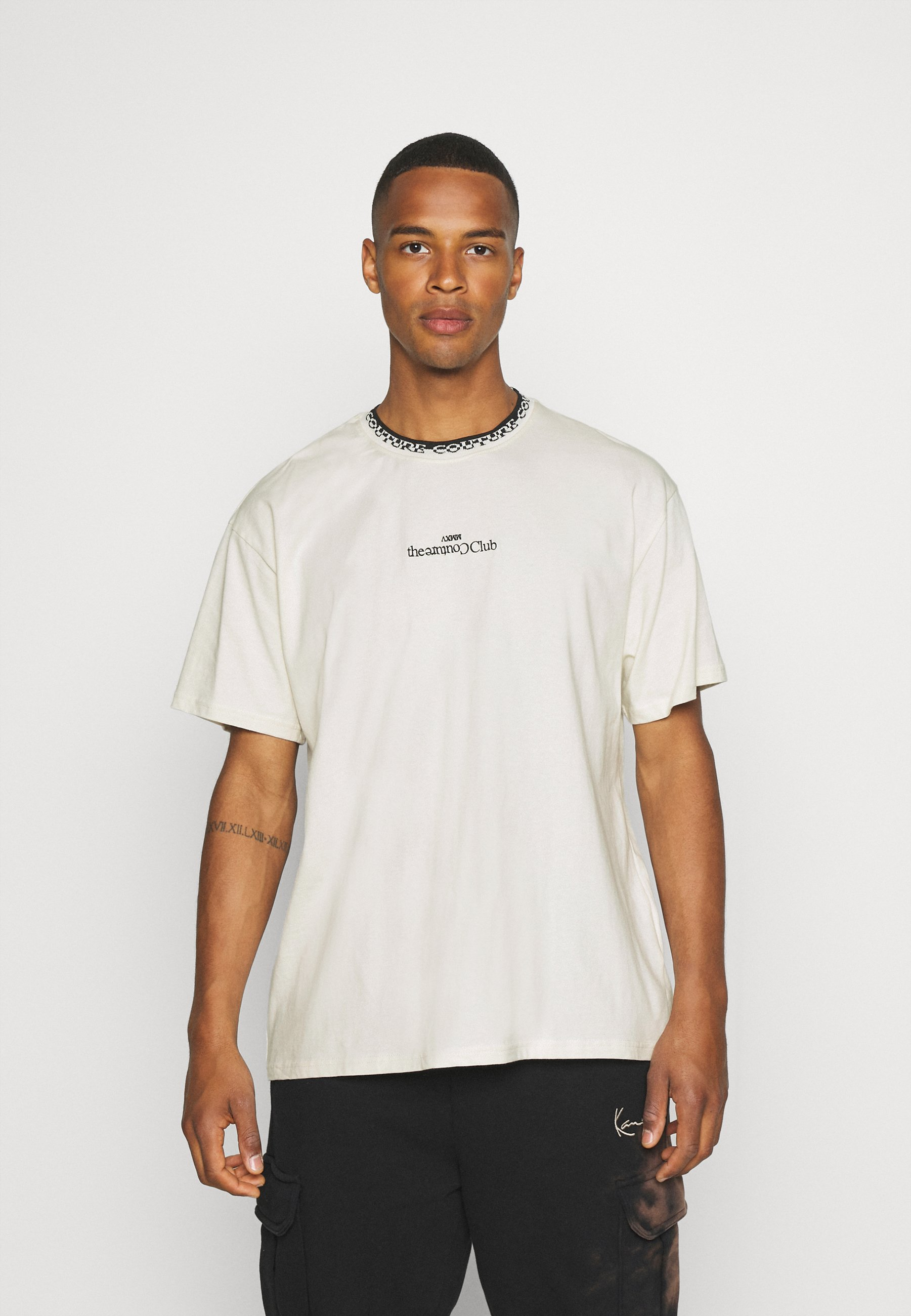 Men CONTRAST LOGO JACQUARD RELAXED T-SHIRT - Print T-shirt
