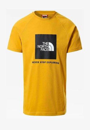 RAGLAN REDBOX - Print T-shirt - arrowwood yellow