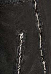 Goosecraft - BERLINER BIKER - Leather jacket - black - 7