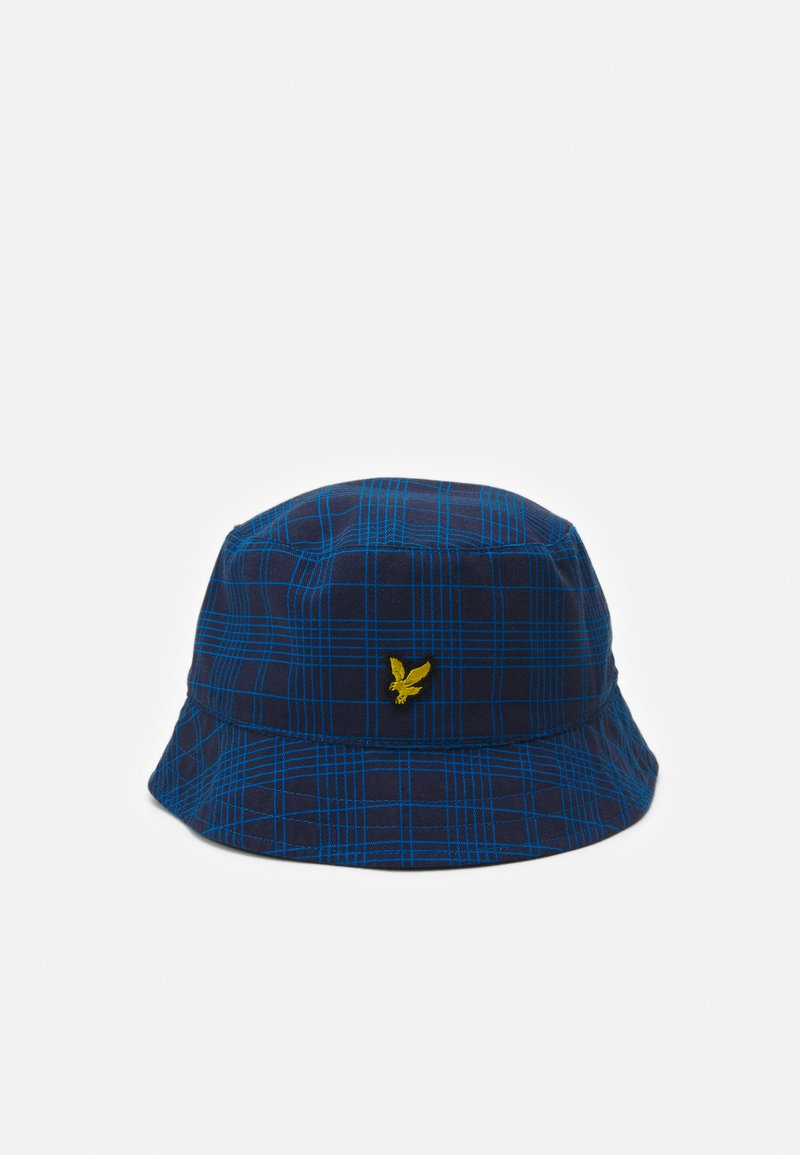 Lyle & Scott - REVERSABLE CHECK BUCKET HAT UNISEX - Hat - navy/ocean blue