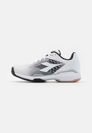 SPEED COMPETITION 6+CLAY - Clay court tennis shoes - white/silver/black