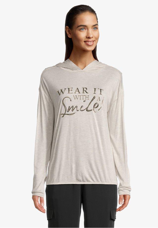 MIT GLANZEFFEKT - Sweatshirt - beige