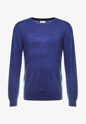 ROUND NECK - Strickpullover - dark blue melange