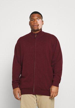 PLAIN ZIP COMFORT FIT - Vest - burgundy