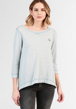 Sweatshirt - smoke mint melange