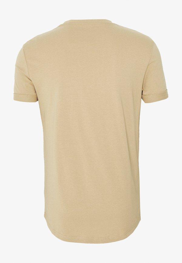Pier One T-shirt basic - tan/jasnobrązowy Odzież Męska BREF
