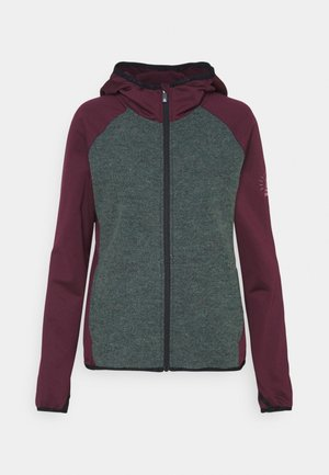 LEPUZ JACKET - Outdoor jacket - windsor wine/grey melange