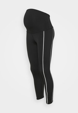 MATERNITY LOVE YOU A LATTE - Leggings - black