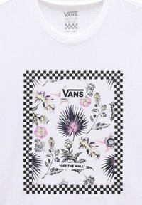 Vans - GR BORDER FLORAL GIRLS - Print T-shirt - white - 2