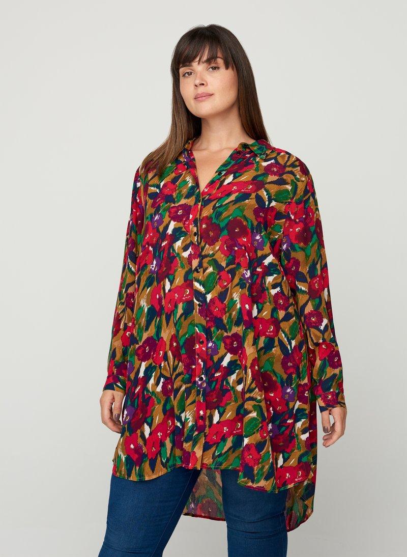 Zizzi - Button-down blouse - army