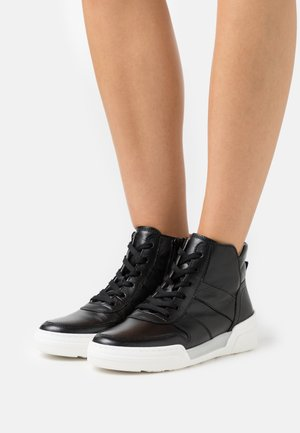 High-top trainers - schwarz