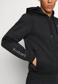 Lacoste Sport - TECH HOODIE - Zip-up hoodie - black - 5