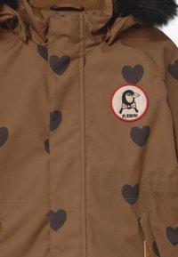 Mini Rodini - HEARTS - Winter coat - brown - 6