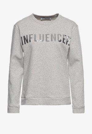 MIT PAILLETTEN - Sweatshirt - grau
