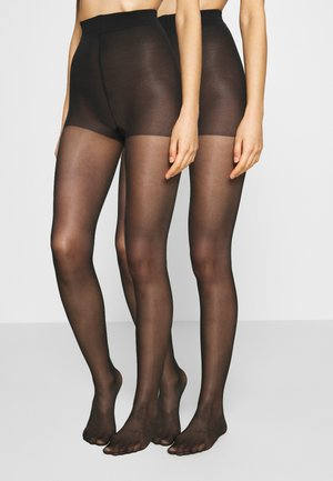30 DEN BASIC 2 PACK - Tights - black