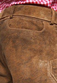 Stockerpoint - CORBI - Leather trousers - havanna - 6