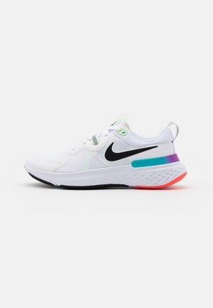 REACT MILER - Chaussures de running neutres - white/black/vapor green/hyper jade