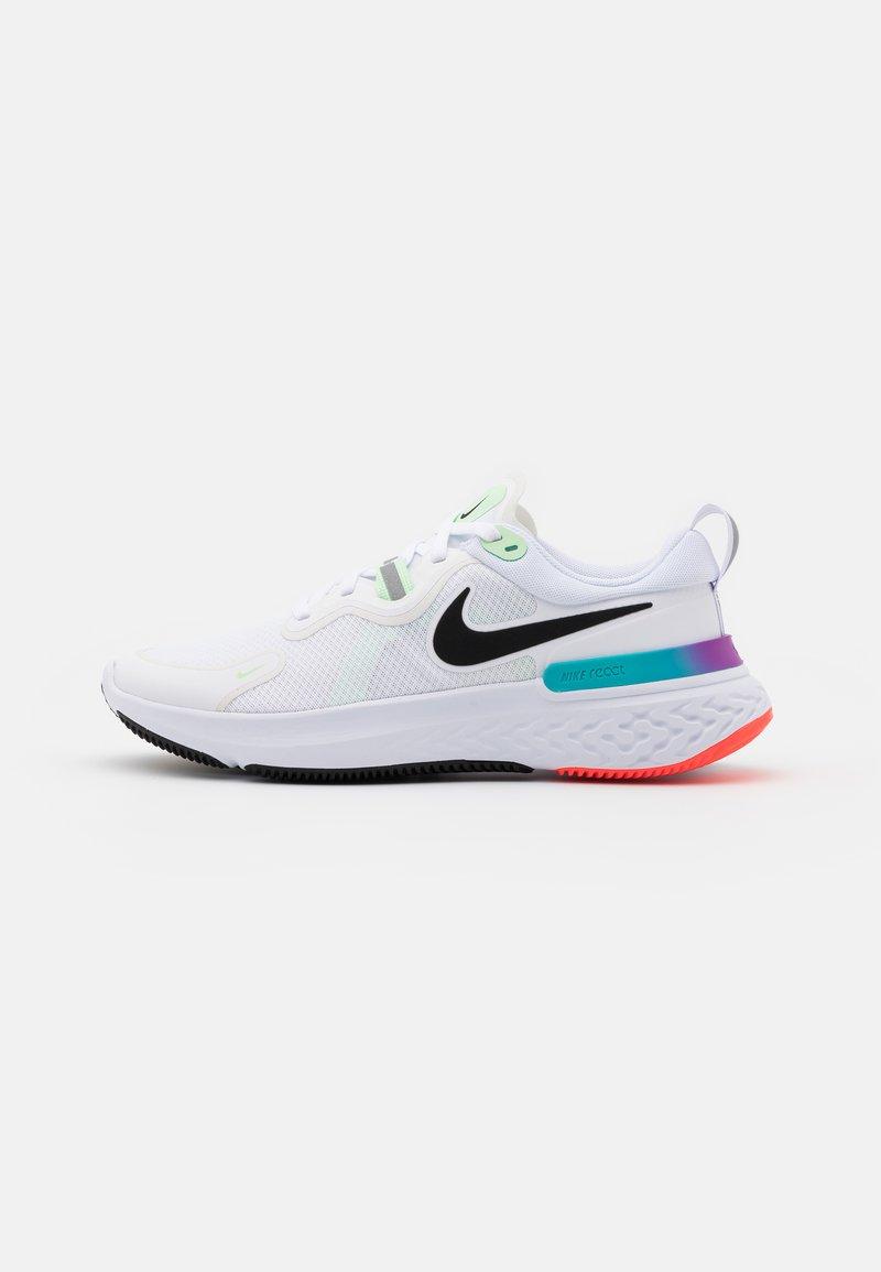 Nike Performance - REACT MILER - Neutral running shoes - white/black/vapor green/hyper jade
