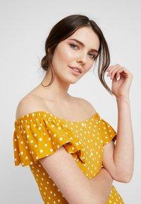 Dorothy Perkins - SPOT BARDOT DRESS - Jerseyklänning - ochre - 4