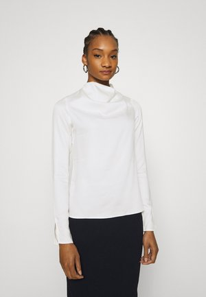 COWL NECK LONG SLEEVE TOP - Blouse - cream