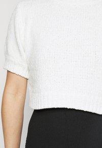 Missguided Petite - CHENILLE  - Print T-shirt - white - 5