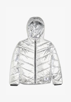 LIGHT HOOD BOMBER GIRLS - Winter jacket - silver