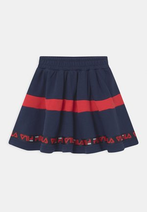 CURLY TAPED - Mini skirt - black iris/true red
