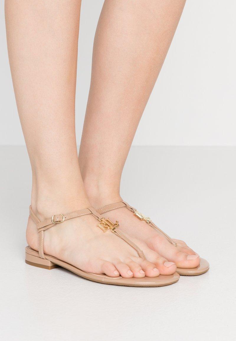 Lauren Ralph Lauren - ELMSTEAD - T-bar sandals - nude