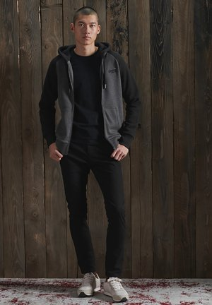 ORANGE LABEL - Zip-up hoodie - low light black grit