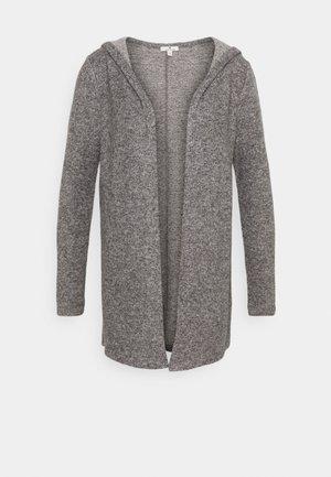 COSY HOODIE - Strickjacke - alloy grey melange