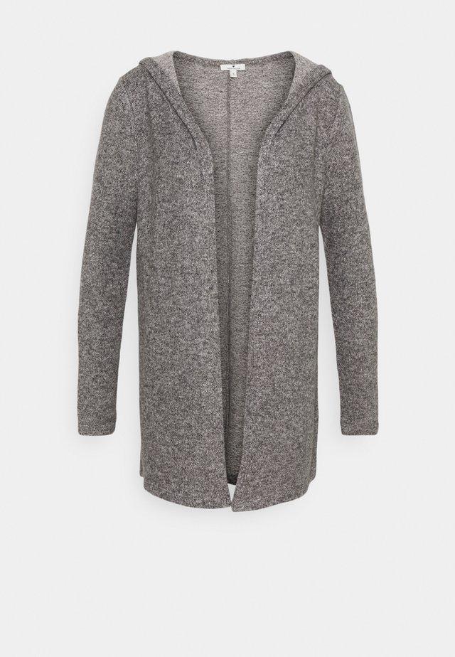 COSY HOODIE - Cardigan - alloy grey melange