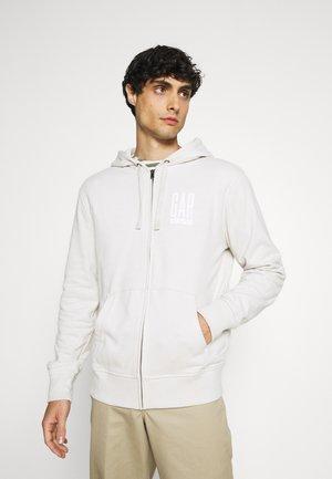 Zip-up hoodie - stone