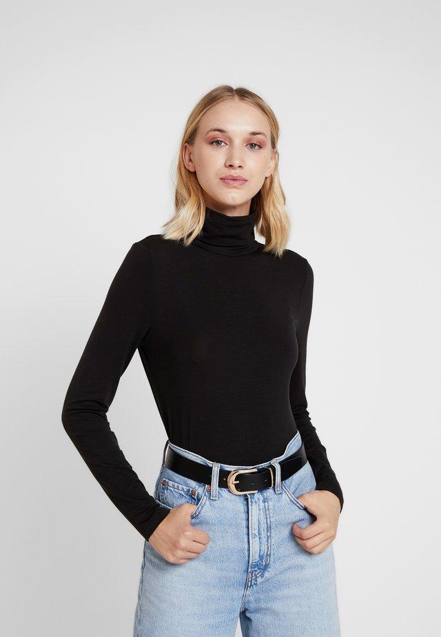 VMAVA LULU ROLLNECK BLOUSE - Long sleeved top - black
