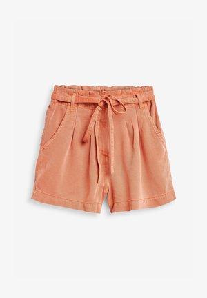 TENCEL TIE WAIST UTILITY - Shorts - coral
