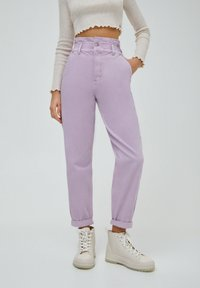 PULL&BEAR - PAPERBAG - Relaxed fit jeans - purple - 0