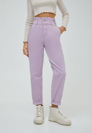 PAPERBAG - Relaxed fit jeans - purple