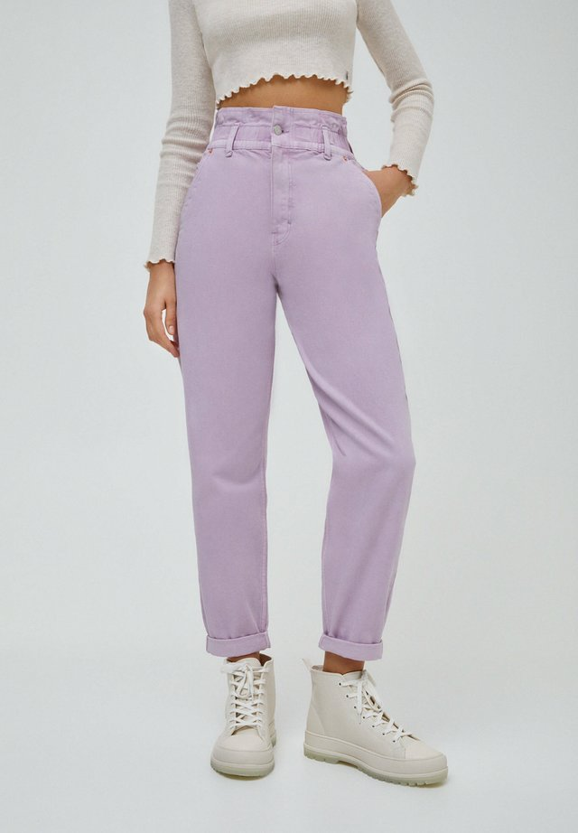 PAPERBAG - Jean boyfriend - purple