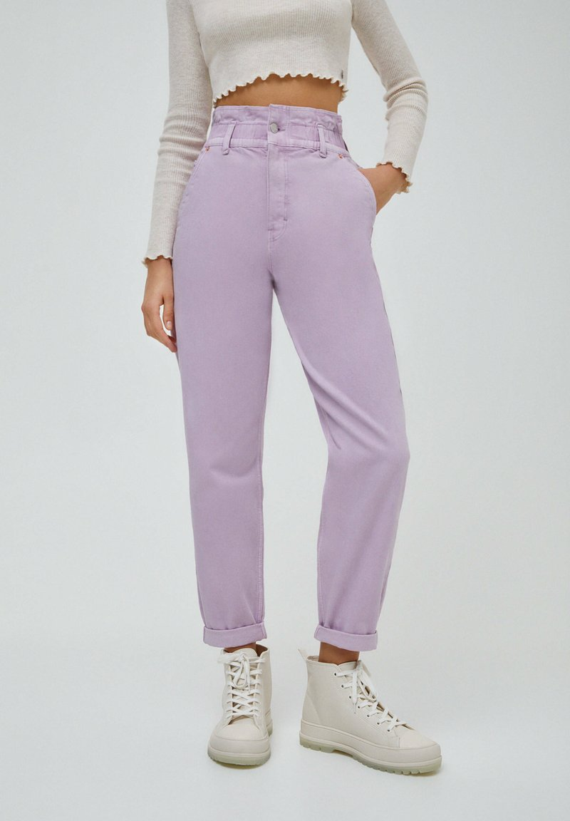PULL&BEAR - PAPERBAG - Relaxed fit jeans - purple