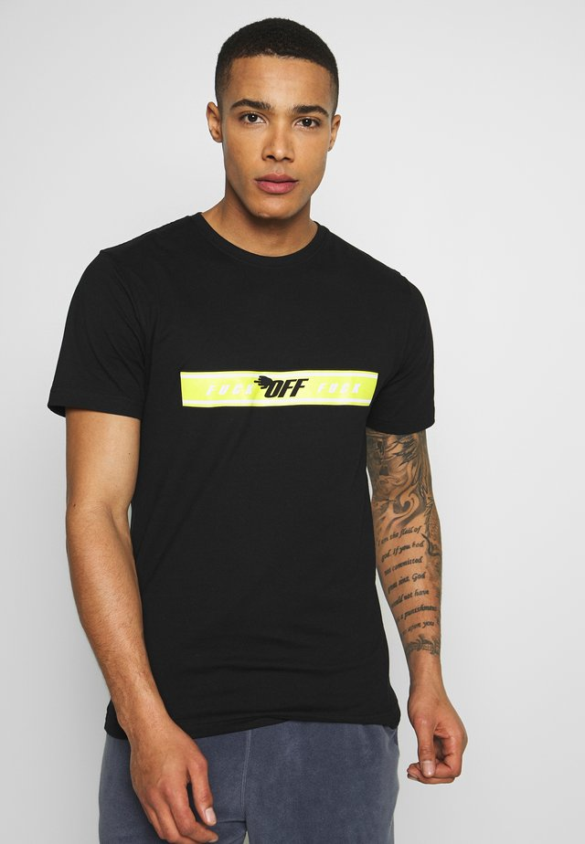 FAST STRAP TEE - T-shirts med print - black