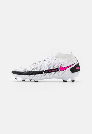 GT ACADEMY  - Moulded stud football boots - white/pink blast/black
