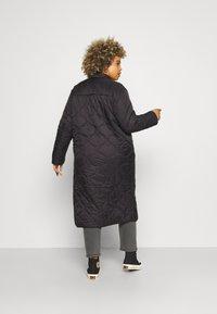Vero Moda Curve - VMBRIDGETDOLLY LONG JACKET - Classic coat - black - 2