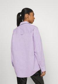 Monki - Button-down blouse - purple solid - 2