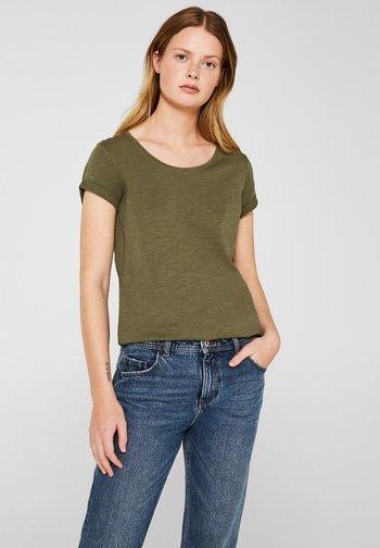 CORE - Basic T-shirt - khaki green