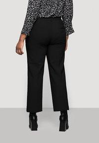 Selected Femme Curve - SLFRIGA WIDE PANT - Kangashousut - black - 2
