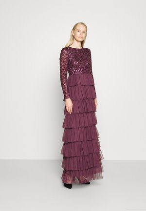 DELICATE TIERED SKIRT DRESS - Robe de cocktail - berry