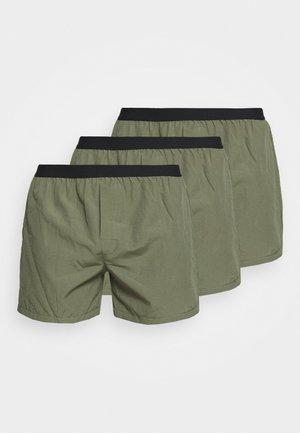 3 PACK - Boxershorts - kahki/black