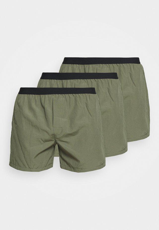 3 PACK - Boxer shorts - kahki/black