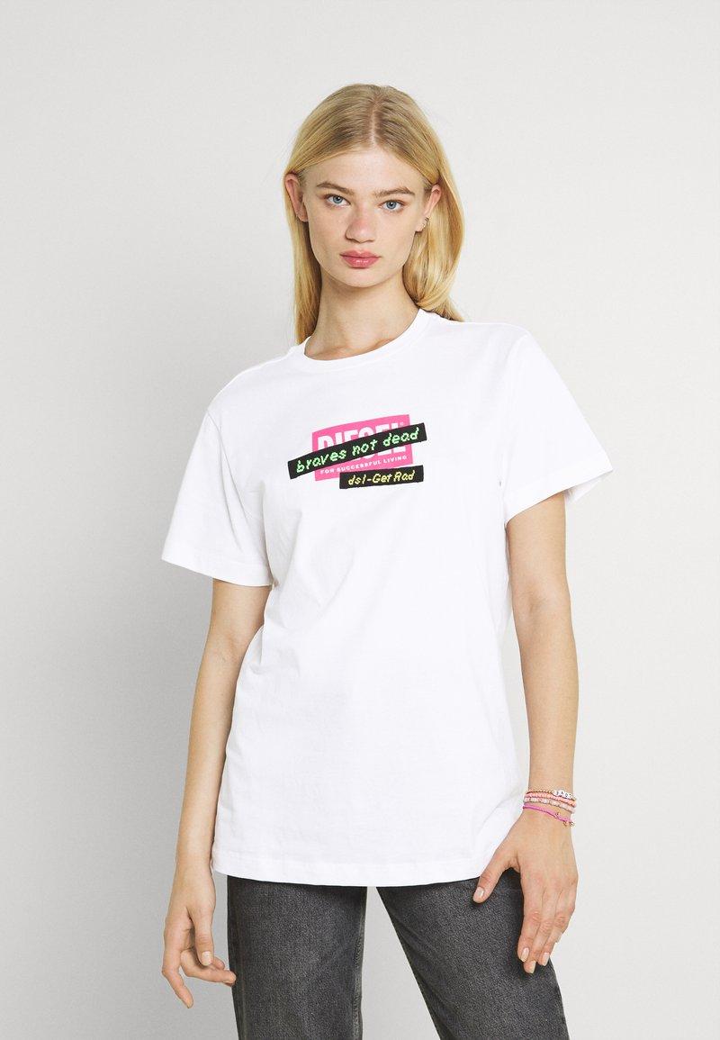 Diesel - DARIA - Print T-shirt - white