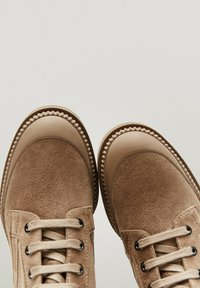 Massimo Dutti - Lace-up ankle boots - beige - 4